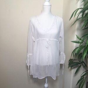 White Swimwear Cover-Up